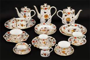 A Royal Crown Derby Partial Dinner Service in the Asian