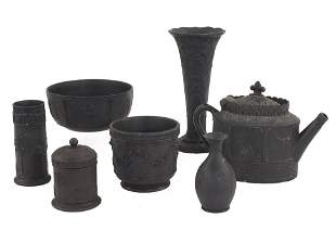 A Group of Wedgwood Black Basalt.