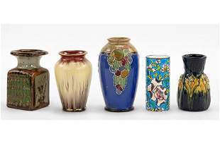 A Group of Five Small Cabinet Vases.