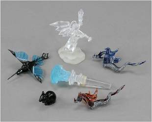 A Group of Small Glass Figures.