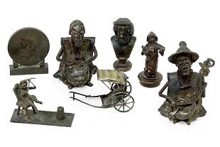 A Group of Miniature Figural Bronzes.