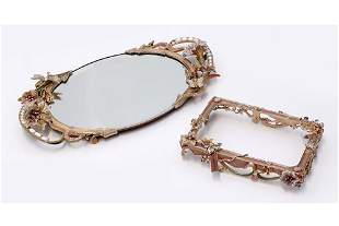 A Jay Strongwater Mirrored Tray.
