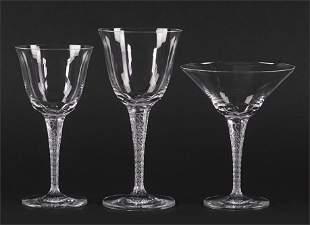 A Lalique Crystal Stemware Service.