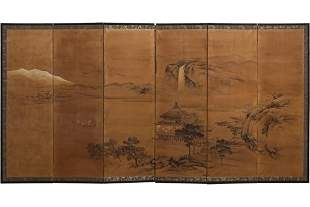 A Japanese Six-Panel Screen.