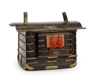 A Japanese Lacquer Palanquin.