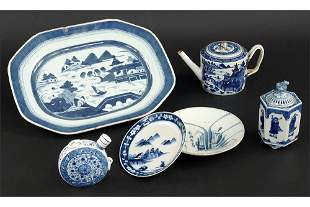 A Collection of Blue and White Porcelain.