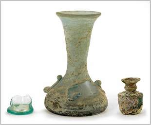 A Group of Roman Glass Fragments.