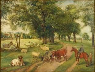 Edwin Frederick Holt (British, 1830-1912) Farm Scene