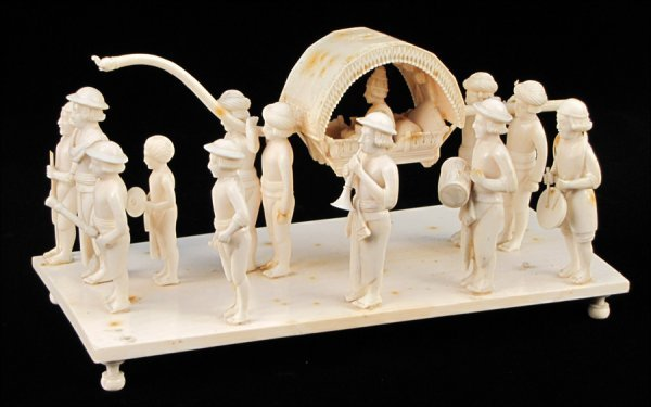 771016: CONTINENTAL CARVED IVORY PROCESSIONAL.