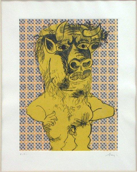 776007: ENRICO BAJ (ITALIAN 1924-2003) MINOTAUR.