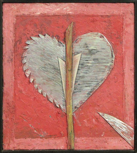 WILLIAM CONGER (AMERICAN, B.1937) STEELY HEART,