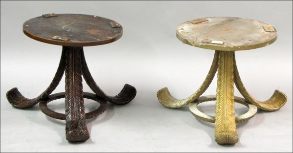 TWO FRENCH ART DECO SIDE TABLES.