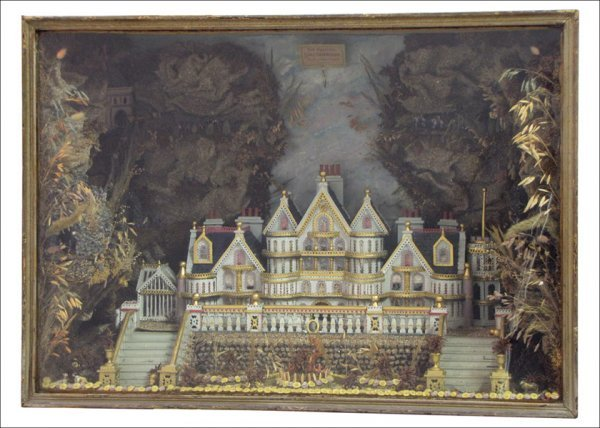HIGH VICTORIAN ENGLISH GOTHIC DIORAMA ATTRIBUTED TO CHA