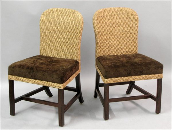 791013: PAIR OF MILLING ROAD FOR BAKER WOVEN HOST CHAIR