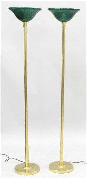 791025: PAIR OF FREDERICK COOPER FLOOR LAMPS.
