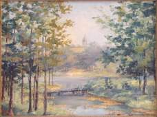 796118: MARY LA FARGE ROLLINS (20TH CENTURY) VIEW OF TH