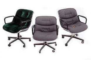 Three Charles Pollock for Knoll Executive Chairs.
