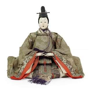 A Japanese Samurai Warrior Doll.
