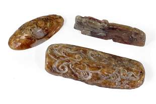 Three Chinese Jade Pendants.