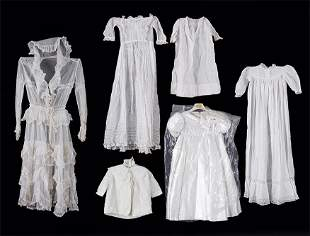 A Group of Vintage Infant Christening Gowns and