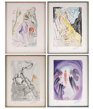 After Salvador Dali (Spanish, 1904-1989) Four Plates