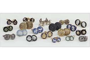 Seven Pairs of Wedgwood Jasperware Cufflinks.