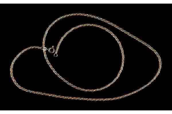 A 14 Karat Yellow Gold Necklace.