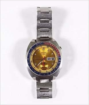 A Seiko Pepsi Chronograph.