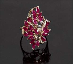 A Ruby Cocktail Ring.