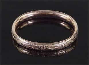 An Edwardian Goldfilled Bangle Bracelet.
