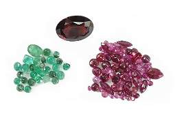A Collection of Unmounted Gemstones.