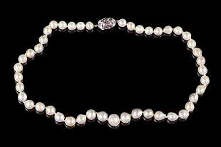 A Cultured Baroque Pearl Necklace.