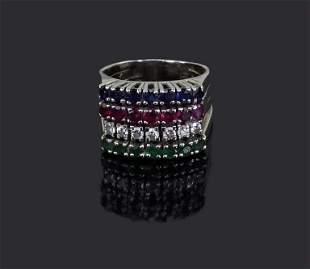 A Gem-Set Cocktail Ring.