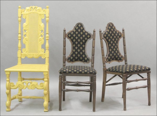 801019: GROUP OF THREE CHAIRS.