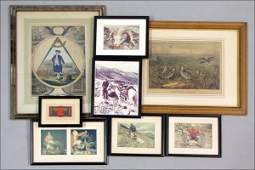802040 COLLECTION OF FRAMED PRINTS