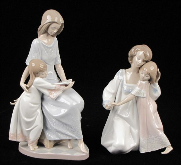 802091: LLADRO PORCELAIN FIGURE OF 'BEDTIME STORY', 545