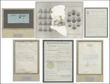 806245 GROUP OF FIVE FRAMED US PRESIDENTIAL SIGNED D