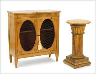 A Pine Two-Door Cabinet.