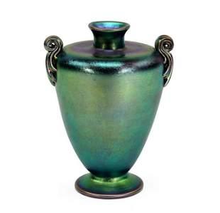 A Tiffany Favrile Glass Vase.