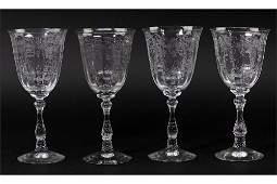 A Set of Twelve Fostoria Water Goblets.