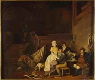 Jacques Albert Senave (Belgian, 1758-1829) A Tavern
