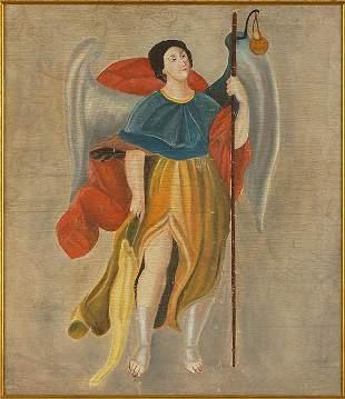 Spanish Colonial School (19th Century) The Angel