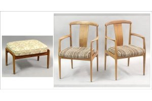 821003: PAIR OF DUX SWEDISH MODERN TEAK ARMCHAIRS.