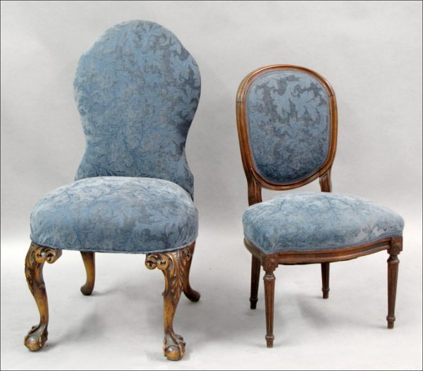 821014: CHIPPENDALE STYLE CARVED MAHOGANY SIDE CHAIR.