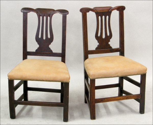 821024: TWO LATE 17TH CENTURY ENGLISH OAK SIDE CHAIRS.