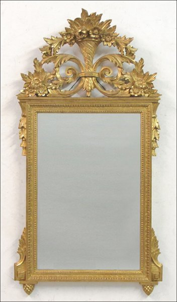 822109: FRATELLI PAOLETTI GILTWOOD AND GESSO MIRROR.