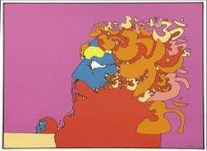 826040: PETER MAX (AMERICAN, B.1937) GOLDEN TIME.