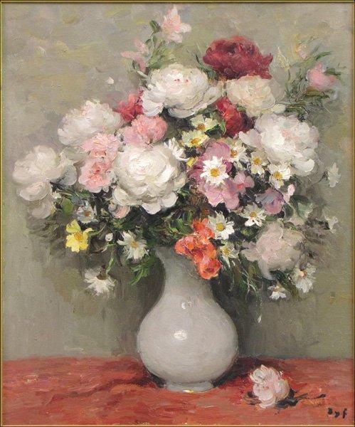 826109: MARCEL DYF (FRENCH 1899-1985) PIVOINES, ROSES E