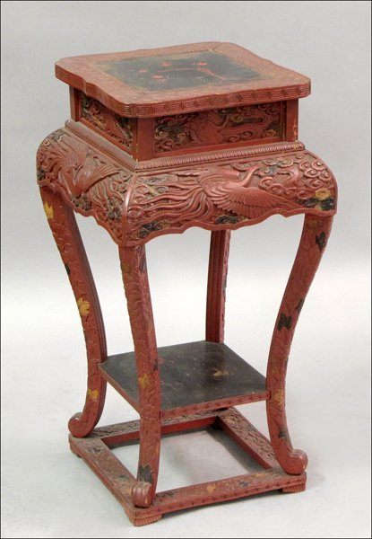 831005: CHINESE LACQUERED TABLE.