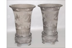 831020: TWO CHINESE PURPLE CLAY YIXING PLANTERS.